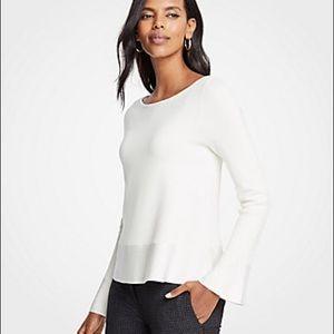Ann Taylor Pleated Flare sleeves, Sweatshirt